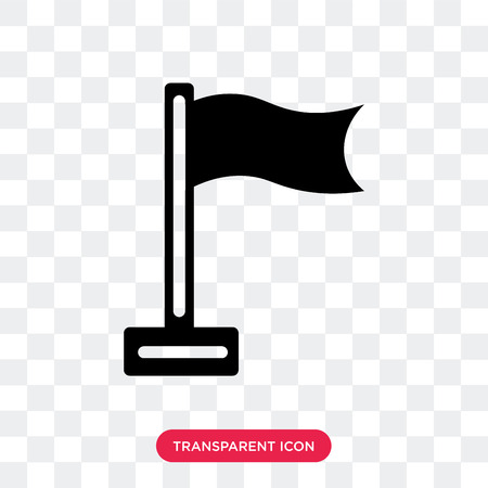 Flag vector icon isolated on transparent background, Flag logo concept Stock Illustratie