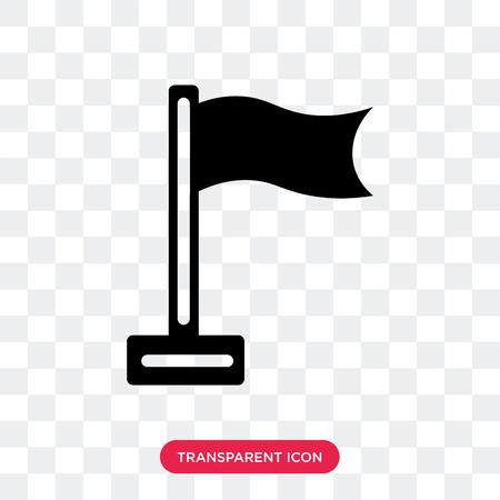 Flag vector icon isolated on transparent background, Flag logo concept Ilustração