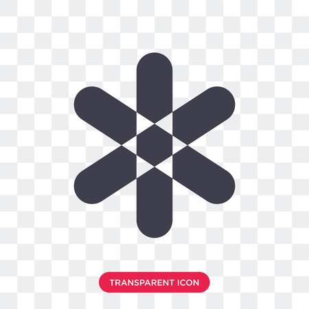 Asterisk vector icon isolated on transparent background, Asterisk logo concept Vectores