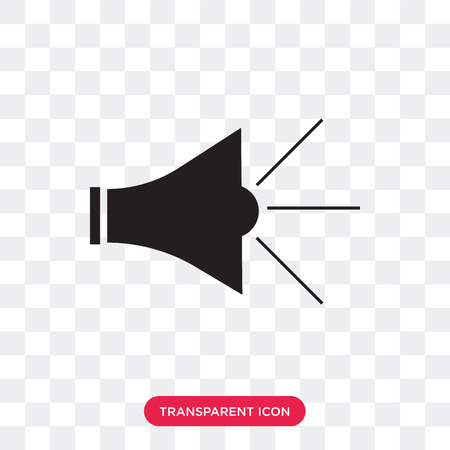 Megaphone vector icon isolated on transparent background, Megaphone logo concept Illustration