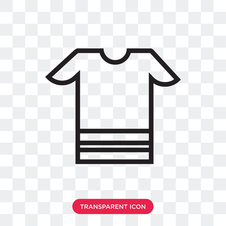 t-shirt vector icon isolated on transparent background, t-shirt logo concept