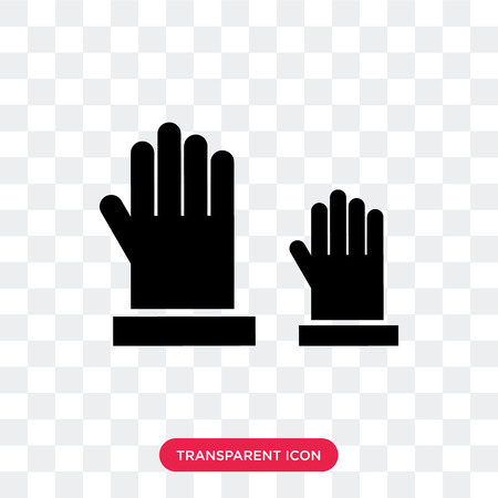Raise hand vector icon isolated on transparent background, Raise hand logo concept