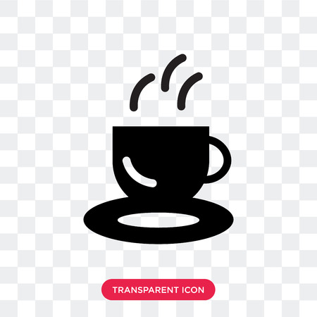 Coffee shop vector icon isolated on transparent background, Coffee shop logo concept
