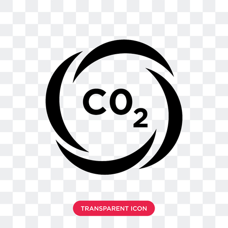 CO2 vector icon isolated on transparent background, CO2 logo concept Illustration