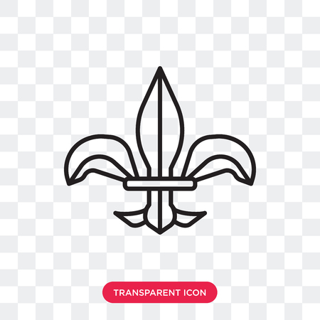 Fleur de lis vector icon isolated on transparent background, Fleur de lis logo concept