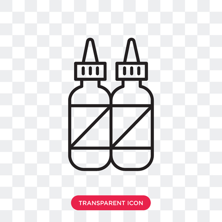 Condiment vector icon isolated on transparent background, Condiment logo concept  イラスト・ベクター素材