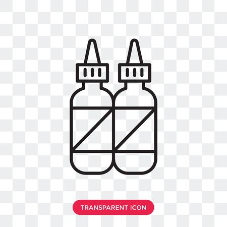 Condiment vector icon isolated on transparent background, Condiment logo concept Illusztráció