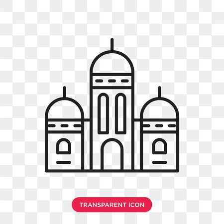 Sacre coeur vector icon isolated on transparent background, Sacre coeur logo concept