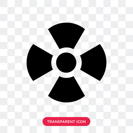 Nuclear vector icon isolated on transparent background, Nuclear logo concept Vectores