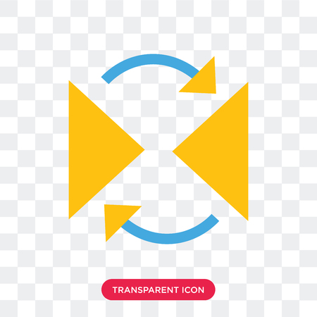 Reflect vector icon isolated on transparent background, Reflect logo concept Иллюстрация