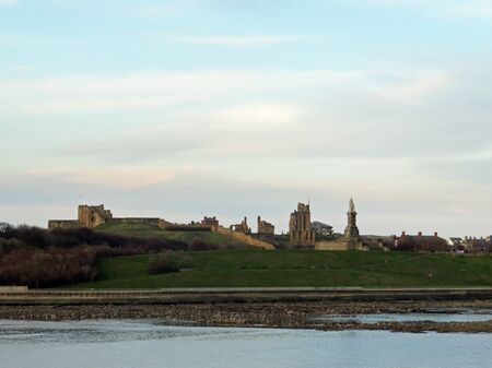 View from the ferry to a ruined castle on the River Tyne
