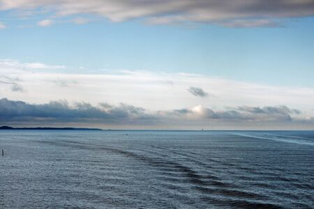 View from the North Sea to Denmark 스톡 콘텐츠