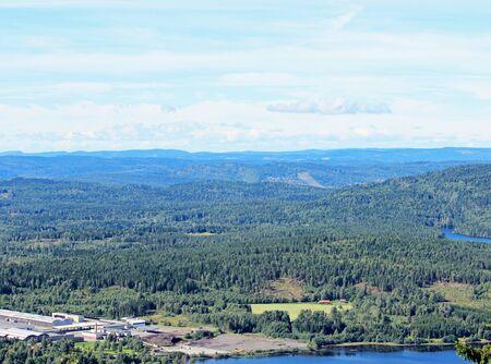 View from Holmenkollen in Oslo, Norway