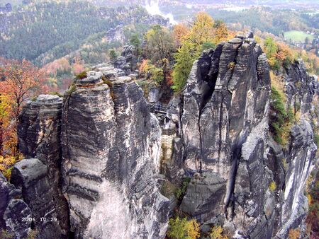 View on the bastion in the Elbe Sandstone Mountains