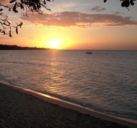 sight of a nice sunset in the Caribbean, Jamaica