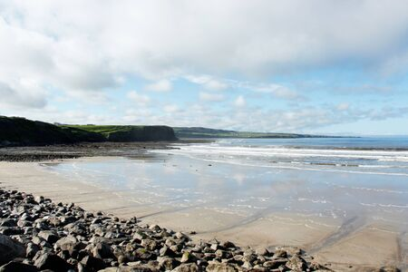 View of a beach at the Atlantic coast of Ireland