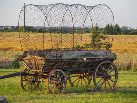 Old covered wagon Stockfoto