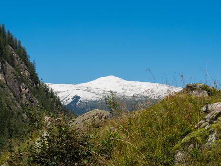 View of a snow capped mountain peak Stok Fotoğraf