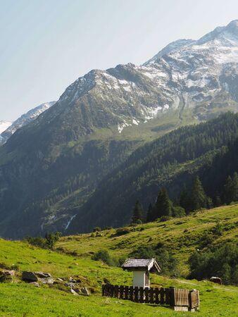 Christian wayside shrine in mountain area