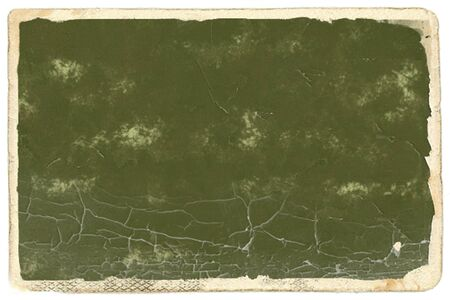 out dated: Old photo paper with dark green empty space