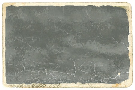 out dated: Old photo paper with grey empty space