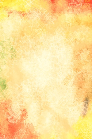 nuances: Art abstract painted orange and yellow background in warm hues