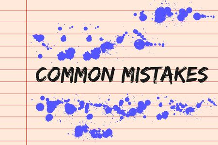 lined paper: Common mistakes concept on lined paper