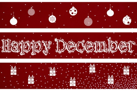 in december: Happy December Christmas background design