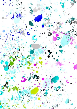 speckle: Colorful splash over white background Stock Photo