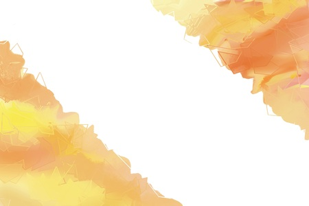 Abstract painted background in orange hues and empty space for text