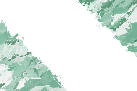 Abstract painted background in green hues and empty space for text Фото со стока