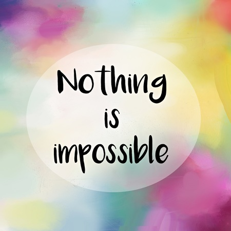 Nothing is impossible motivational message over painted background