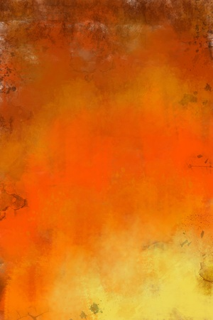 nuances: Art abstract painted brown and orange background in warm hues