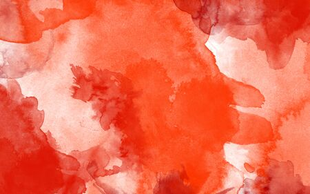 pastel backgrounds: Red and white watercolor painted  background Stock Photo