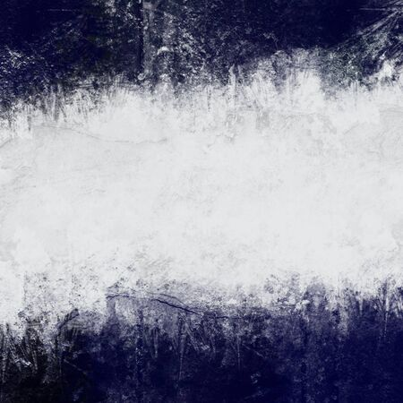 deteriorated: Abstract painted background in dark blue and white with empty space for text Stock Photo