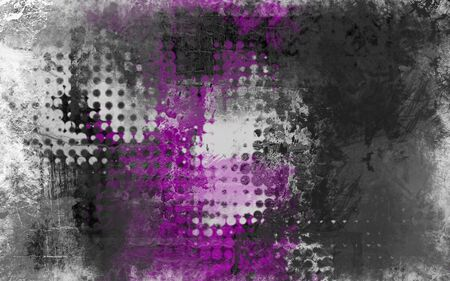 deteriorated: Abstract grunge background with grey, white and purple
