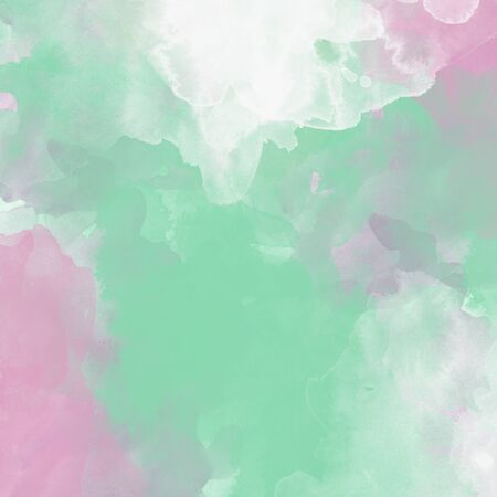 Green and pink pastel colored watercolor background