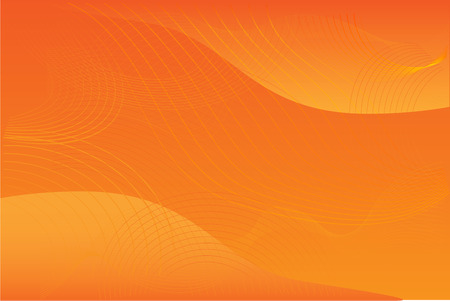 yellow orange: Orange abstract background  illustration with yellow curves