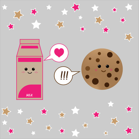 comic characters: Carton of milk and cookie friends comic characters