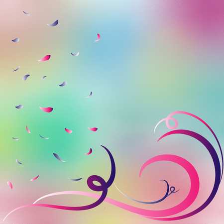 diffuse: Colorful diffuse background with swirls and petals