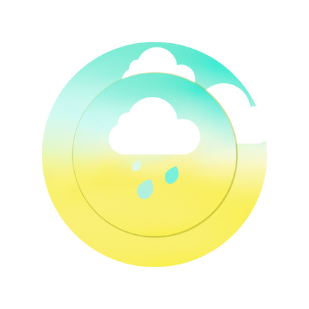 condition: Weather condition illustration with clouds, rain and sun