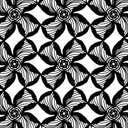 Abstract flowers background in black and white