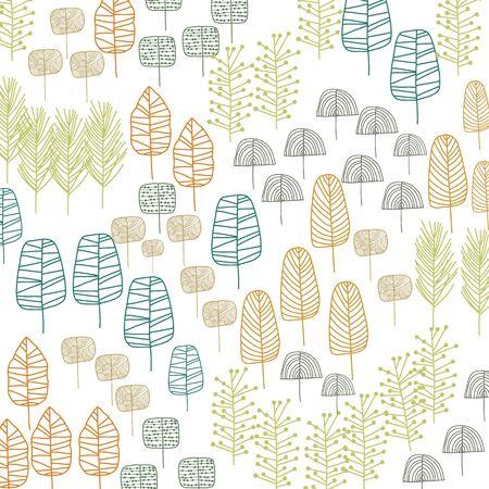 レトロな色の木模様を落書き