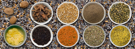 photographies: On photographies of the spices in saltwort.General background - a seed of the poppy
