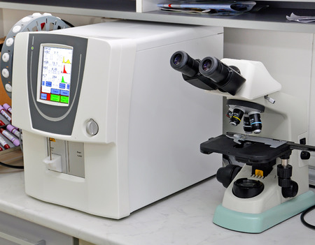 laboratory equipment: the medical equipment in the diagnostic center