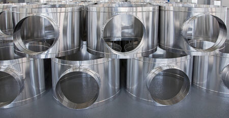 corrugated steel: pipes from stainless steel, are used in ventilation systems
