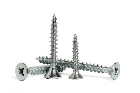 The screws are isolated on white background photo