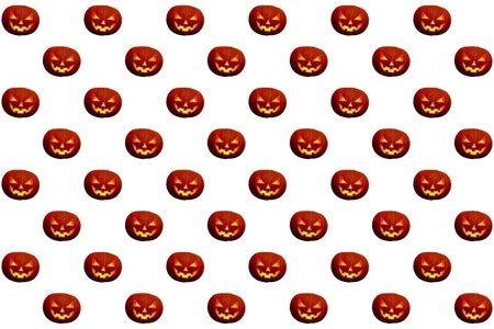 Halloween pumpkin seamless pattern on a white background