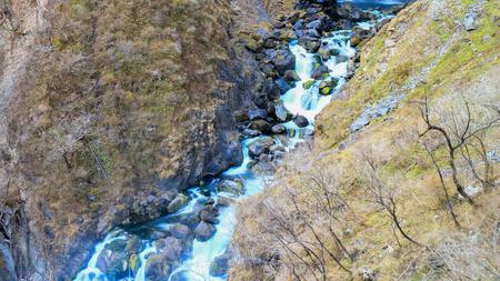 downstream: nikko water falls autumn downstream