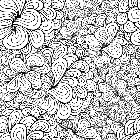 Vector abstract plant seamless pattern